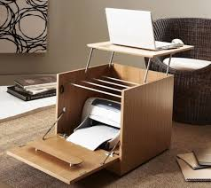OfficeCreative Modern Desks Design For Small Spaces With Multifunctional Laptop And Printer Desk Creative
