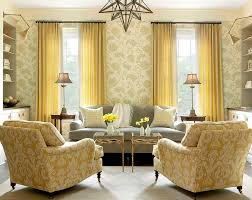 view in gallery a stylish room where yellow takes over from gray