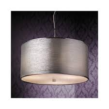 rebolo 3ch pendant ceiling light in chrome with silver shade