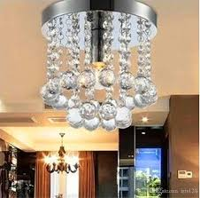 15 20 25cm crystal chandelier light mini ceiling lamp fixture small clear crystal re lamp for aisle stair hallway corridor porch light lighting