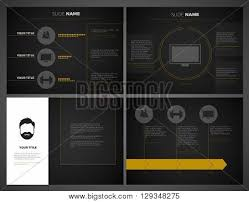 Dark Powerpoint Templates Business Presentation Vector Photo Free Trial Bigstock