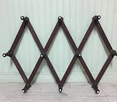Cottage Coat Rack Unique Vintage Wooden Pegs Accordion Wall Hooks Wooden Coat Rack Cottage