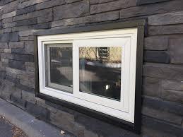 basement windows exterior. Brilliant Windows Image Of Vinyl Sliding Basement Windows Throughout Exterior