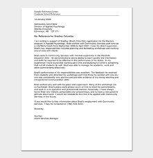 What To Include In A Recommendation Letter For Grad School School Reference Letter Format 15 Sample Letters