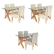heart of house oakington glass table 4 chairs choice of colour from argos