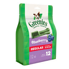 Details About Greenies Bursting Blueberry Regular Size 12 Count 12 Oz Dental Treats For Dogs
