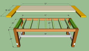 Diy Farmhouse Dining Table Plans Two Benches For  Bucks Double - Diy rustic dining room table