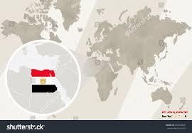 zoom on egypt map flag world stock vector 292283645 shutterstock Map Of The World Egypt zoom on egypt map and flag world map map of the world with egypt located