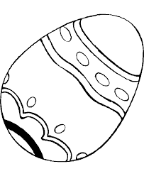 Print Easy Easter Egg Coloring Page For Preschool Or Download Easy