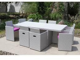 Salon De Jardin Encastrable 8 Places Table 210x105cm R Sine