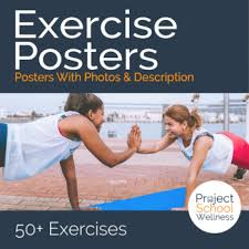 Exercise Posters Health Pe Fitness Posters