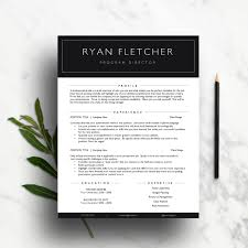 professional resume template ms word simple resume a us professional resume template modern cv template cover letter references page
