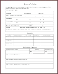 Employee Application Form Word Job Application Form Template Word Format Shocking Work