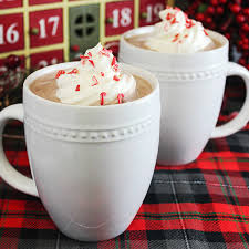 cup of hot chocolate with whipped cream.  Hot Peppermint And Whipped Vodka Hot Chocolate Recipe Intended Cup Of With Cream T