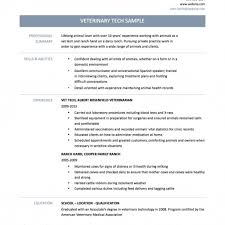 Veterinary Resume Samples Veterinarian Resume Veterinary Technician Vet Tech Samples Resumes 40