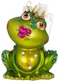 Gift Company Weihnachtskugel Christbaum Anhänger Frosch Dame Sitzend Mit Kussmund