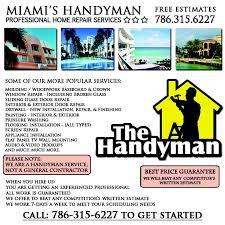 Service Advertisement Tjs Handyman Service Advertisement Flier Yelp
