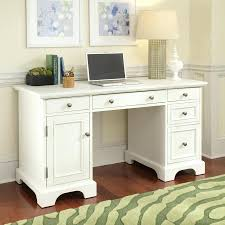 small desk with file drawer white computer secretary