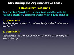 the persuasive essay definitions 9 structuring the argumentative essay