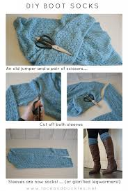 boots and legwarmers are the rage right now but who wants to pay an arm and a leg for them here is a diy boot socks or legwarmers tutorial lace and