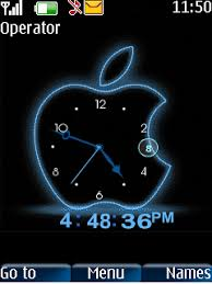 free animated clock wallpapers for mobile. Animated Apple Swf Clock Mobile Theme On Free Wallpapers For