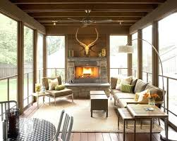 screened in porch with fireplace deck with fireplace screened in back porch ideas pictures photos images screened in porch with fireplace