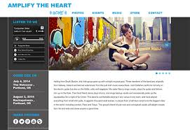 Music Website Templates Simple Websites For Musicians And Bands Create A Music Website HostBaby
