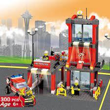 Bộ 300 KAZI 8052 Cứu Hỏa Thành Phố Trung Tâm Cứu Hộ Khối Xây Dựng Tương  Thích Legoing Xếp Hình Mô Hình Xe Cứu Hỏa Đồ Chơi Trẻ Em