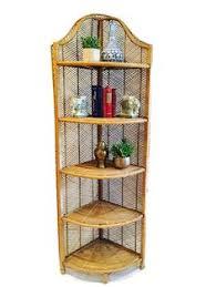 Wicker Corner Shelves Bamboo Corner Shelf Wicker Rattan Standing Shelving Unit 100 11