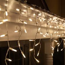 LED Christmas Lights - 70 M5 Warm White LED Icicle Lights