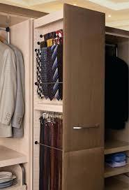 closet belt hanger tie rack and pullout organizer