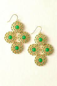 stella and dot chandelier earrings dot passage to garden party chandelier earrings green and gold stella