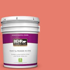 Coral Bedroom Paint Behr Premium Plus 5 Gal 200a 2 Coral Cream Zero Voc Eggshell