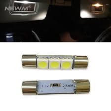 4pcs 6641f 29mm car led sun visor vanity mirror lights bulb l fuse style for bmw