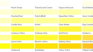Shades Of Yellow Color Chart Light Shade Of Yellow Brown Nursery Uk Colours Color Chart