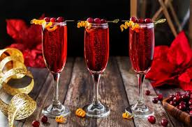poinsettia drink a chagne tail