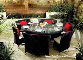 kitchen elegant round outdoor patio furniture 5 ideas large cushions for or image of sets kitchen elegant round outdoor patio furniture