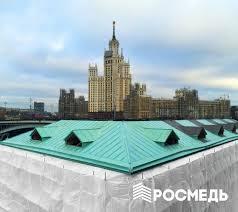 Монтаж медной кровли в Москве и области цены на услуги монтажа  Монтаж кровли слуховых окон