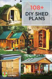 108 free diy shed plans ideas that you can actually build in your backyard
