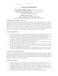 Quality Control Resume Software Quality Assurance Resume Quality ...