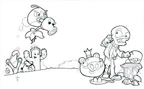 Plants Vs Zombies Coloring Pages All Plants Stockware