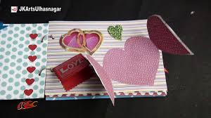 DIY Scrapbook Tutorial   Valentine's Day Gift Idea   How to make a  Scrapbook   JK Arts 861 - YouTube