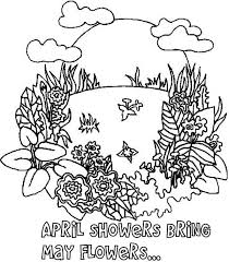 Small Picture April Shower Bring May Flower on Springtime Coloring Page