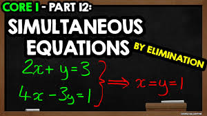 solving simultaneous equations c1 edexcel a level maths by elimination core part fan motor wiring