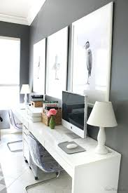 white desk home office. Office Desk Home Desks White Setup In For Two And Within E