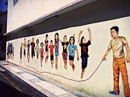 the masterpieces were mainly done by a local artist named eric lai differed to the one in penang by ernest zacharevic the paintings are more vibrant and  on mural wall art ipoh with ipoh town attraction wall murals and ipoh old town my