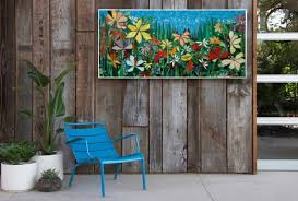 large 5ft garden mosaic wall art made