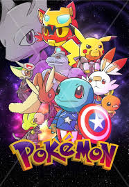 Entry #19 by zaphiere for Create a Pokemon x Avengers Mashup Movie Poster