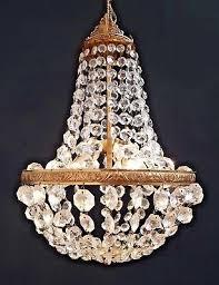 striking large vintage french basket chandelier