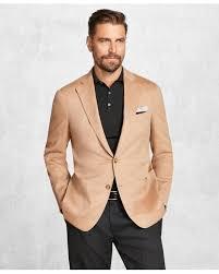 brooks brothers natural golden fleece camel hair sport coat for men lyst